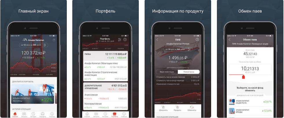 Мобильное приложение Альфа-Капитал